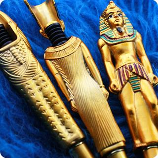 Egyptain,Collector 3 Pens,Gift Queen Nefertiti, King Tutankhamun And Pharoah