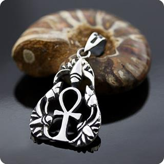 Egyptian Lotus Flower Surround Ankh - Life in Love