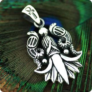 Egyptian Silver Jewelry cobra Naja Haje Pendant