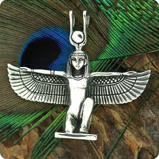 Egyptian Silver Jewelry Hathor (Sekhmet) Pendant