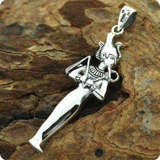 Egyptian Zodiac SIlver Jewelry Dead God Osiris Pendant