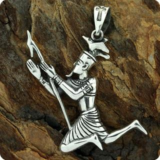 Egyptian Silver God of the Earth Geb Pendant