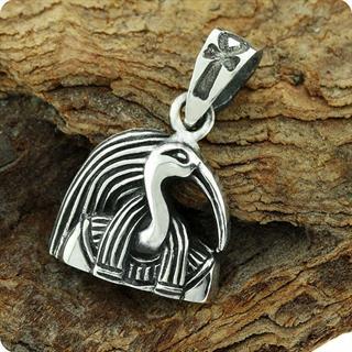 Egyptian Silver Portrait Pendant God Thoth S