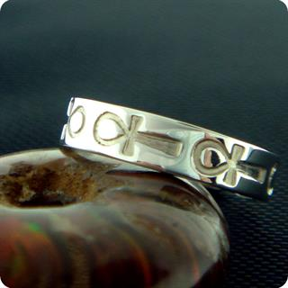 Egyptian Silver Jewelry Ankh Symbol Ring