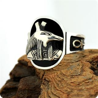 Egyptian Silver Ring, Chaos God Seth (Set)