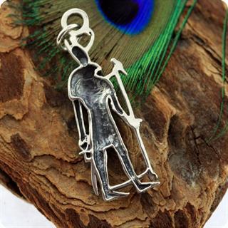 Egyptian Silver Jewelry Sky God Horus Figure Pendant