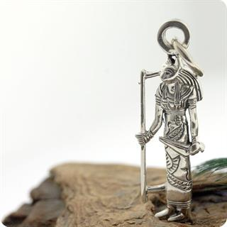 Egyptian Cat Goddess Bastet Figure Silver Pendant