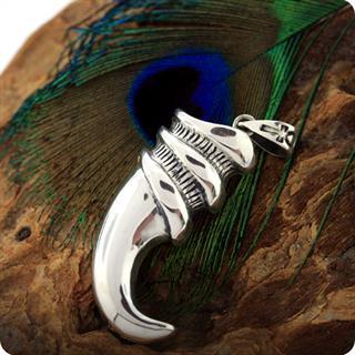 Ancient Egyptian Silver Pendant Jackal Tooth of God Anubis,,Pendant
