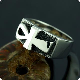 Egyptian Silver Jewelry Ankh Ring