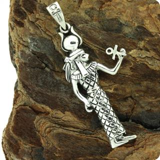 Egyptian Truth Goddess Maat , Mut Sterling Silver Pendant