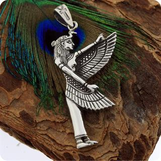 Egyptian Silver Jewelry Magic Goddess Isis Pendant