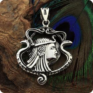 Mojo II Jewelry Egyptian Magic Goddess Isis Boat Silver Pendant
