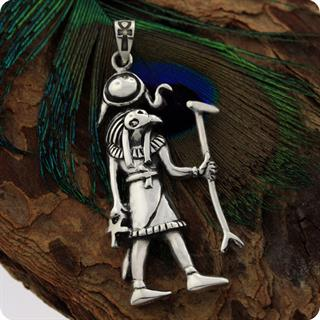 Vintage Jewelry Egyptian the God of Sun, Amun Ra Silver Pendant