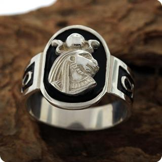 Egyptian Silver Astrology Lion Goddess Sekhmet S925 Ring