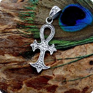 Egyptian Sterling Silver Jewelry Ankh Symbol Pendant