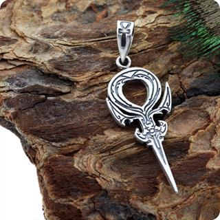 Sterling Silver Jewelry Ankh Wisdom Symbol Pendant