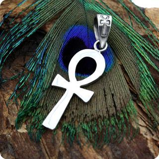 Sterling  Silver Jewelry Ankh Symbol Pendant