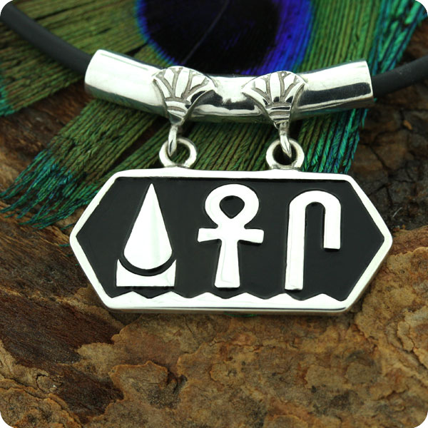 Egyptian Silver Jewelry Of Life Prosperity Health Pendant