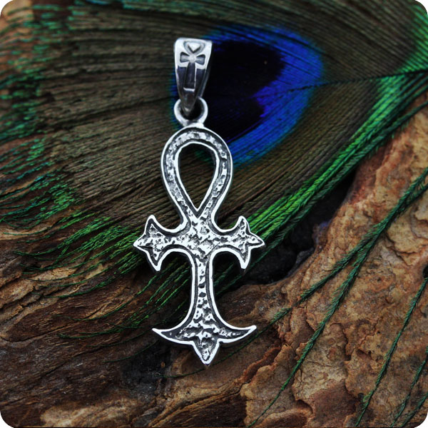 Egyptian Sterling Silver Jewelry Ankh Symbol Pendant Egyptian